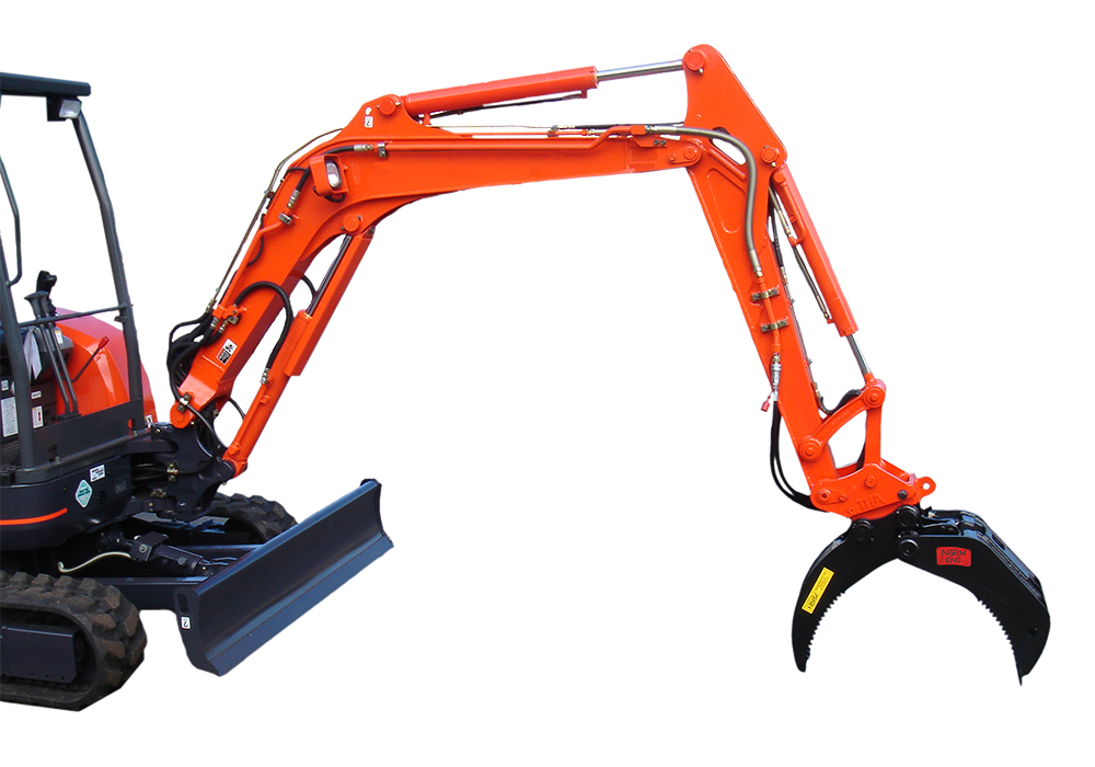 Excavator Rock & Log Grabs